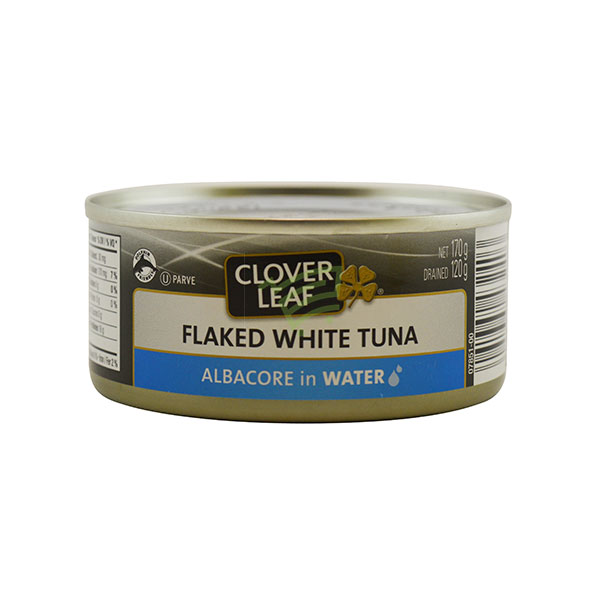 Indian grocery online - Clover Leaf Flaked White Tuna 170G - Cartly