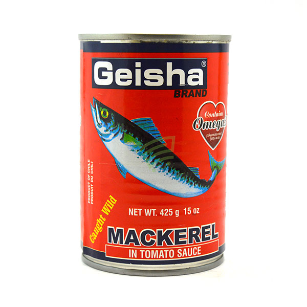 Indian grocery online - Geisha Mackerel In Tomato Sauce 425G - Cartly