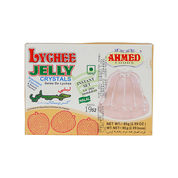 Indian grocery online - Ahmed Jelly Crystals Lychee 85G - Cartly