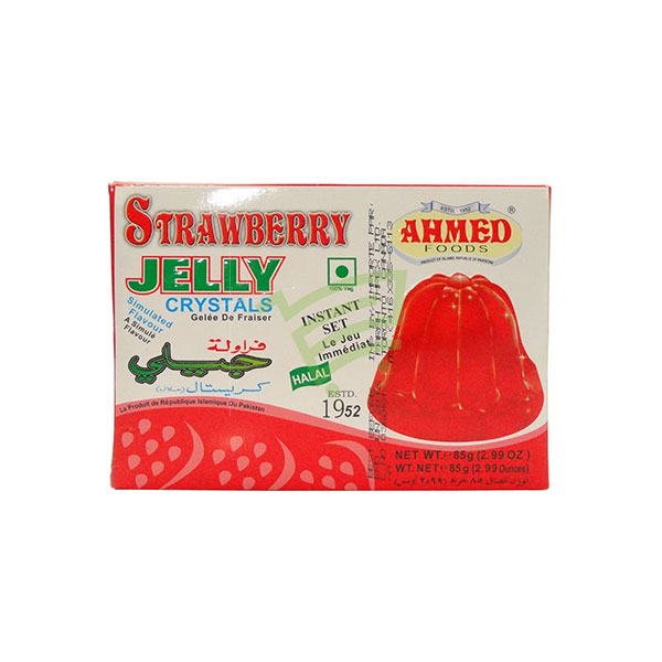 Indian grocery online - Ahmed Jelly Crystals Strawberry 85G - Cartly