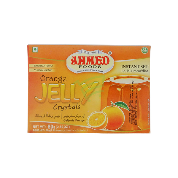 Indian grocery online - Ahmed Orange Jelly Crystals 80G - Cartly