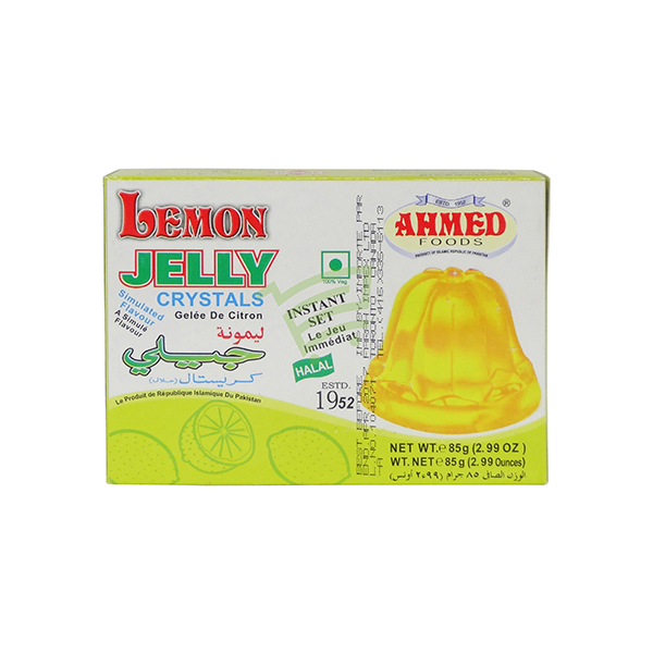 Indian grocery online - Ahmed Jelly Crystals Lemon 85G - Cartly