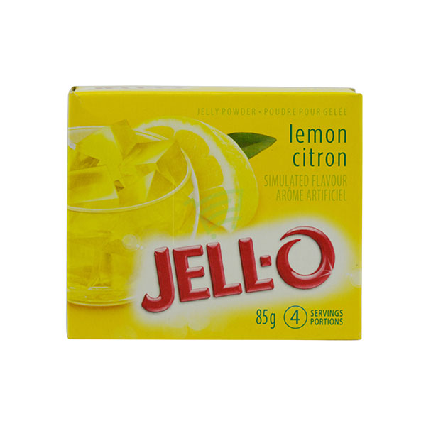 Indian grocery online - Jell-O Lemon Jelly Powder 85G - Cartly