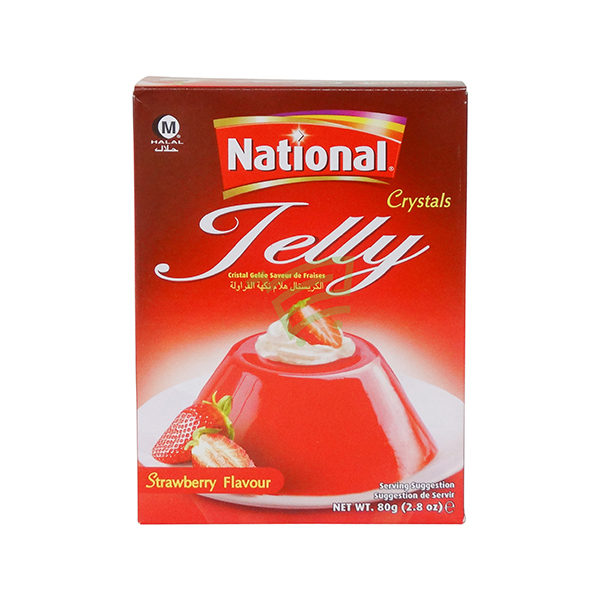 Indian grocery online - National Jelly Crystal Strawberry 80G - Cartly
