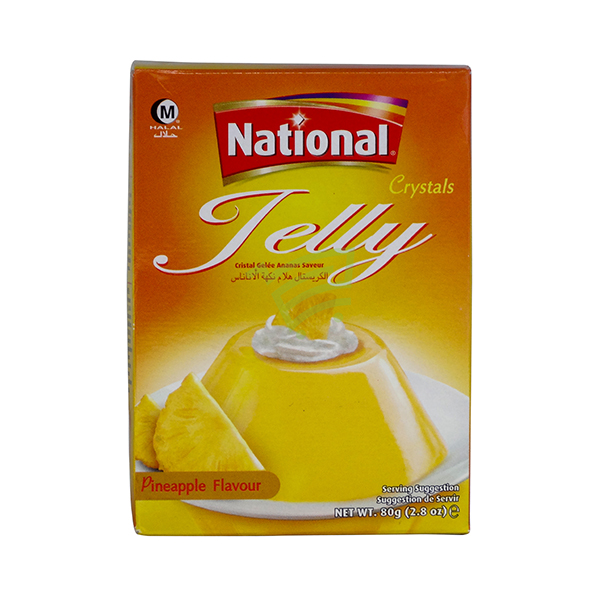 Indian grocery online - National Jelly Pineapple Flavour 80G - Cartly