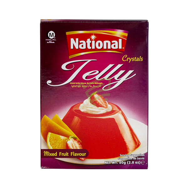 Indian grocery online - National Jelly Mixed Fruit Flavour 80G - Cartly