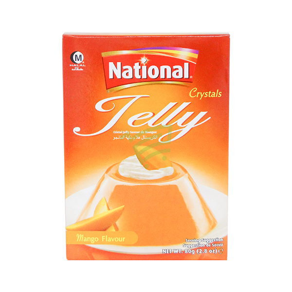 Indian grocery online - National Jelly Crystal Mango 80G - Cartly