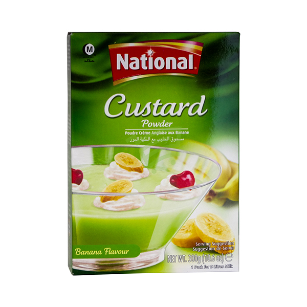 Indian grocery online - Nationnal Custard Powder Banana 300G - Cartly