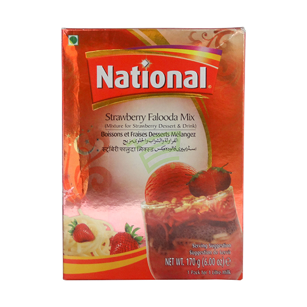 Indian grocery online - National Strawberry Falooda Mix 170G - Cartly