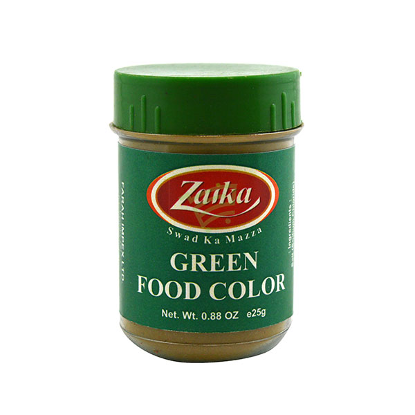 Indian grocery online - Zaika Food Colour Green 25G - Cartly
