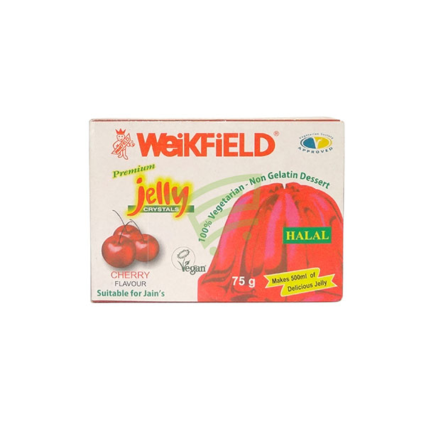 Indian grocery online - Weikfield Cherry Jelly Crystals 75G - Cartly