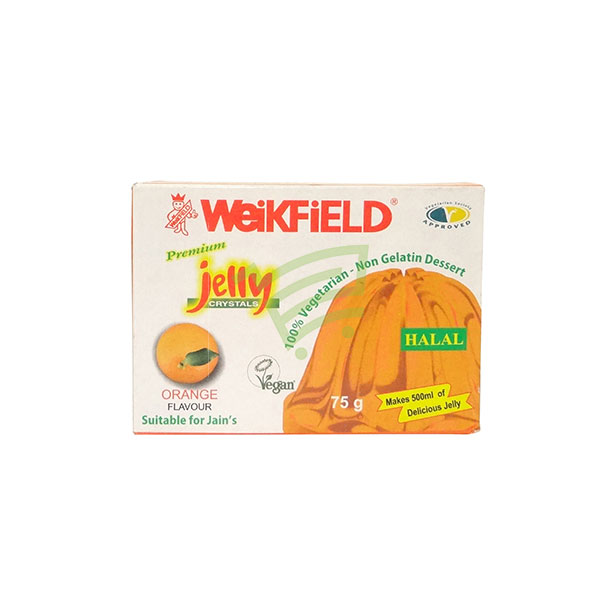 Indian grocery online - Weikfield Jelly Crystals Orange 75G - Cartly