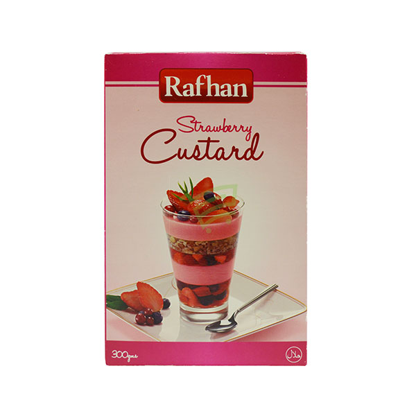 Indian grocery online - Rafhan Custard Powder Strawberry 300G - Cartly