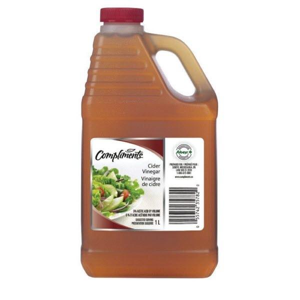 Indian grocery online - Comoliments Cider vinegar 1ltr - Cartly