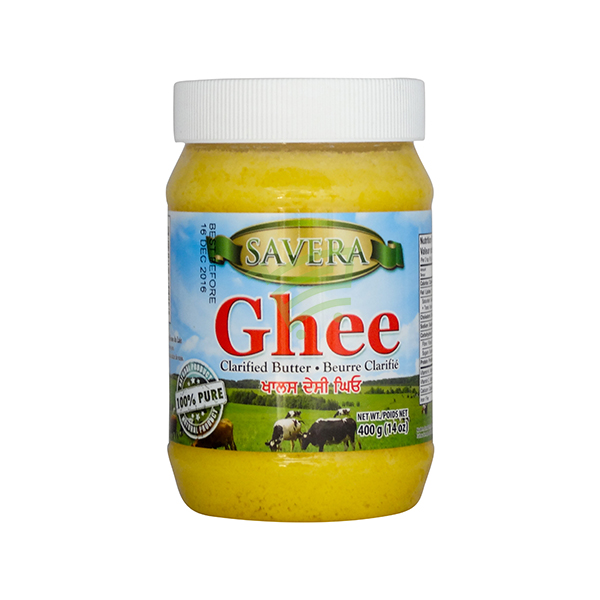 Indian grocery online - Savera Pure Ghee 400g - Cartly