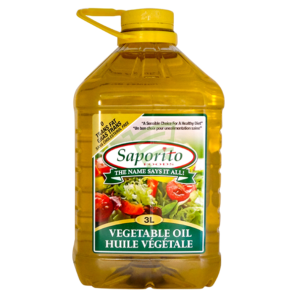 Indian grocery online - Saporito Vegetable Oil 3L - Cartly