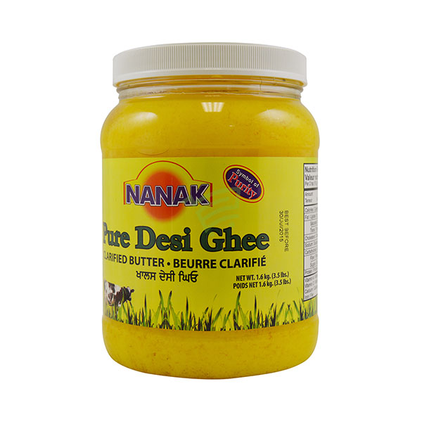 Indian grocery online - Nanak Pure Desi Ghee 3.5lb - Cartly