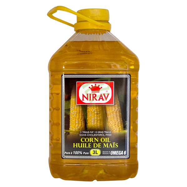 Indian grocery online - Nirav Corn Oil 3L - Cartly