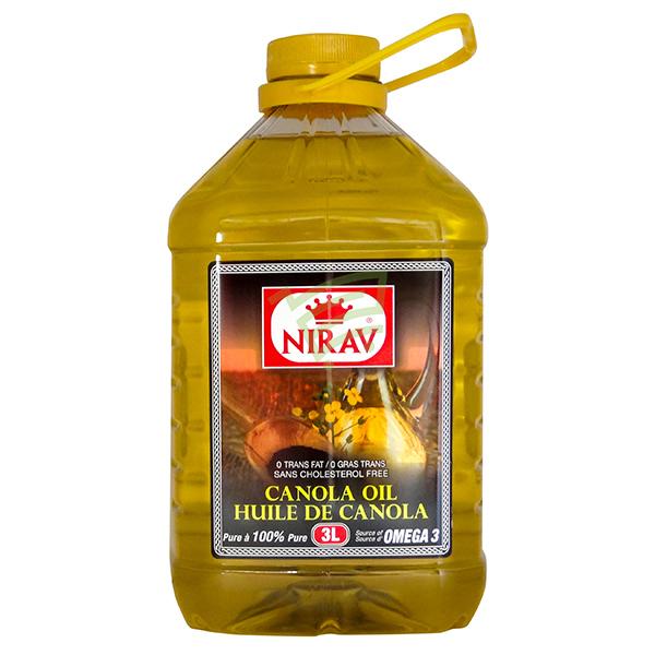 Indian grocery online - Nirav Canola Oil 3L - Cartly