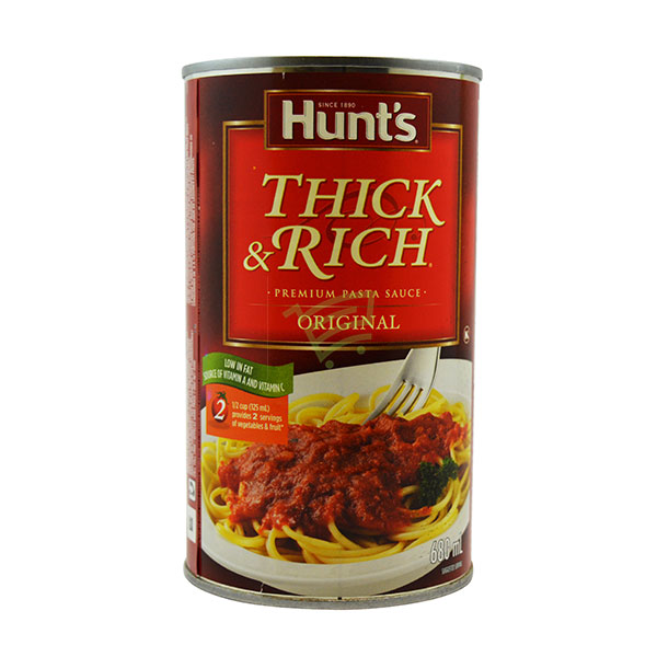 Indian grocery online - Hunt's Thick&Rich Pasta Sauce 680Ml - Cartly