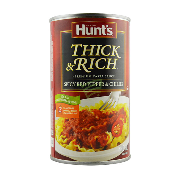 Indian grocery online - Hunt's Red Pepper&Chillies Pasta Sauce 680Ml - Cartly