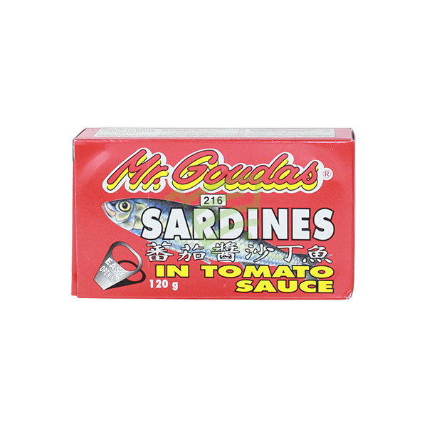 Indian grocery online - Mr.Goudas Sardines Tomato 120G - Cartly