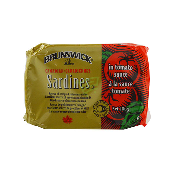 Indian grocery online - Brunswick Sardines Tomato Sauce 106G  - Cartly