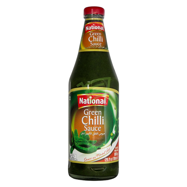 Indian grocery online - National Green Chilli Sauce 800Ml - Cartly