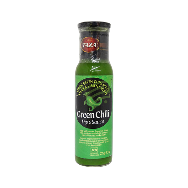Indian grocery online - Taza Green Chili Dip & Sauce 275G - Cartly