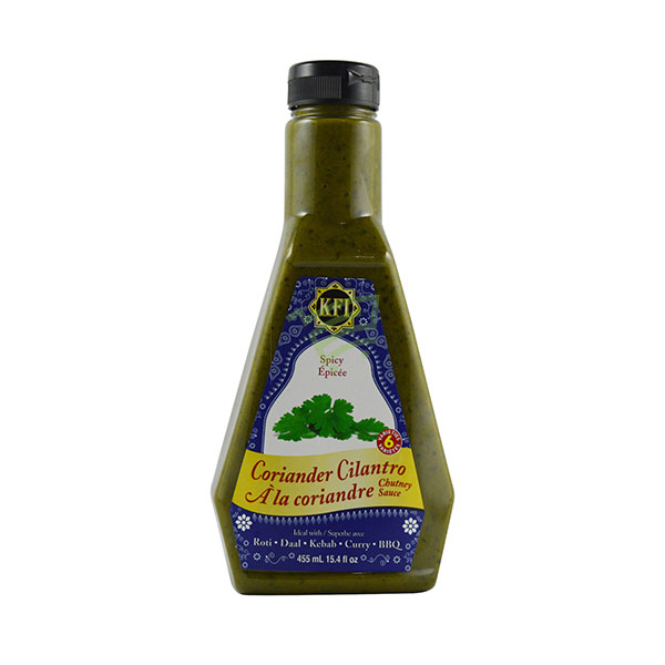 Indian grocery online - KFI Coriander Spicy Chutney 455Ml - Cartly
