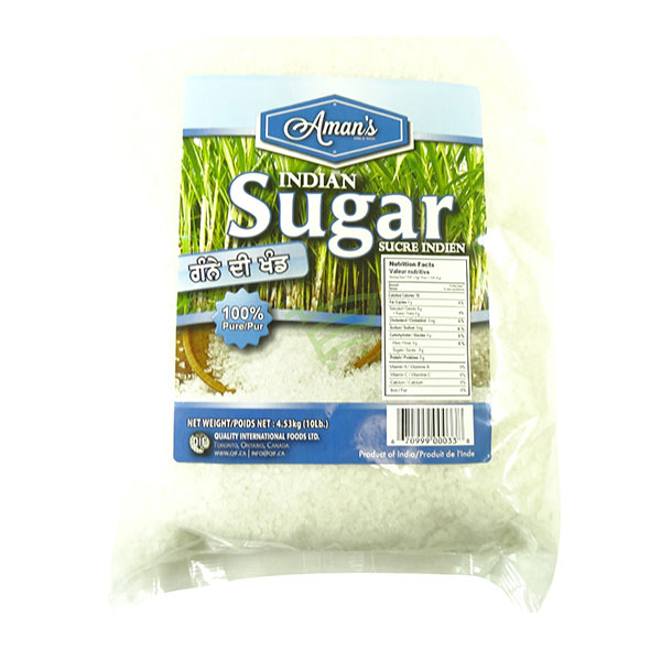 Indian grocery online - Aman's Indian Sugar 10lb - Cartly