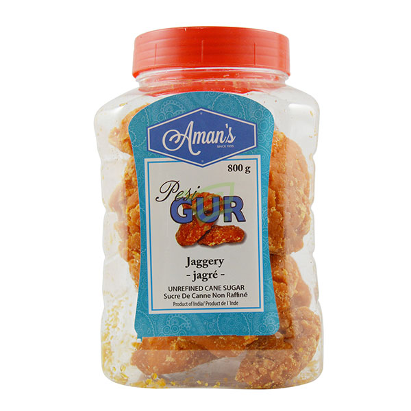 Indian grocery online - Aman's Jaggery 800G  - Cartly