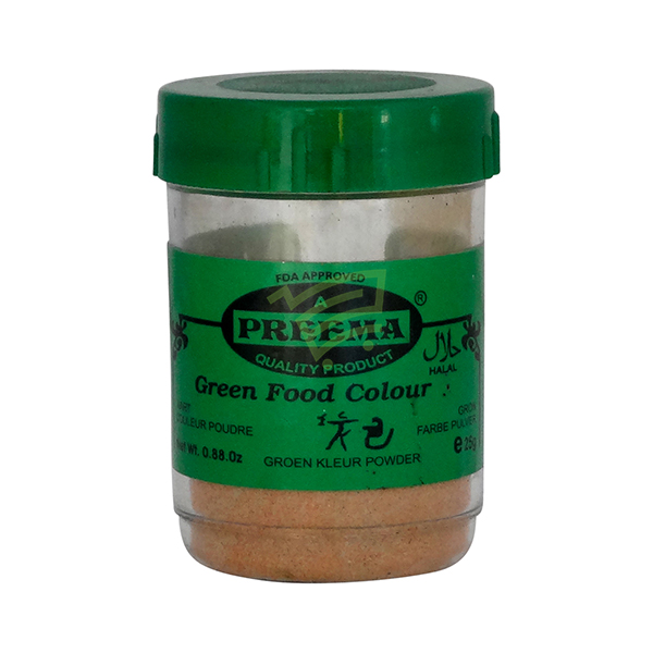 Indian grocery online - Preema Green Food Colour 25G - Cartly