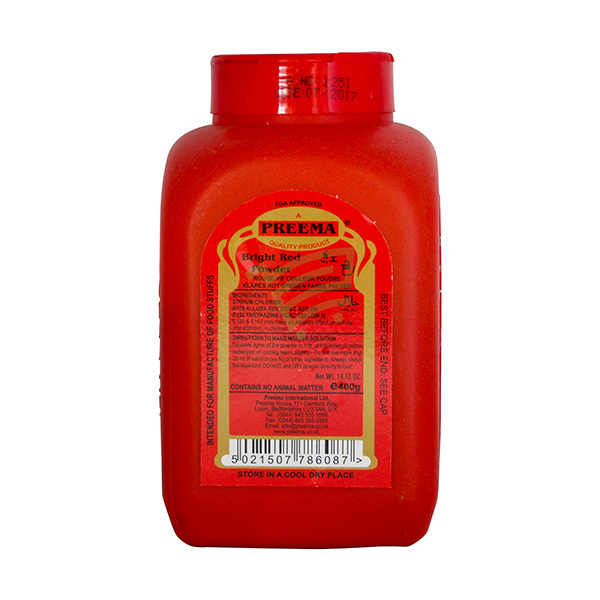 Indian grocery online - Preema Red Food Colour 400G - Cartly
