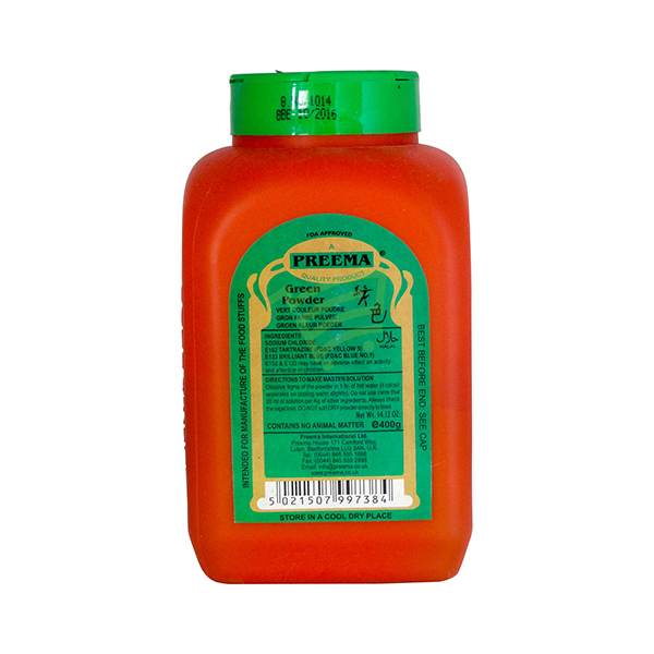 Indian grocery online - Preema Green Food Colour 400G - Cartly
