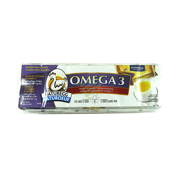 Indian grocery online - Brunbrae Omega 3 White Eggs 12 - Cartly