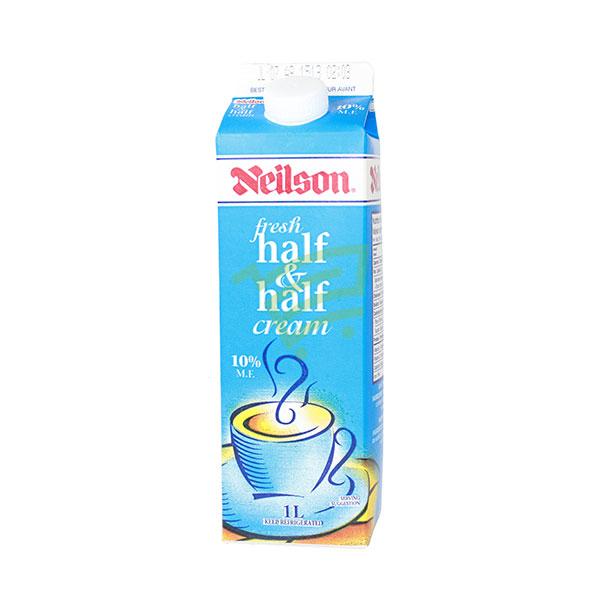 Indian grocery online - Neilson Half & Half Cream 10% M.F. 1L - Cartly