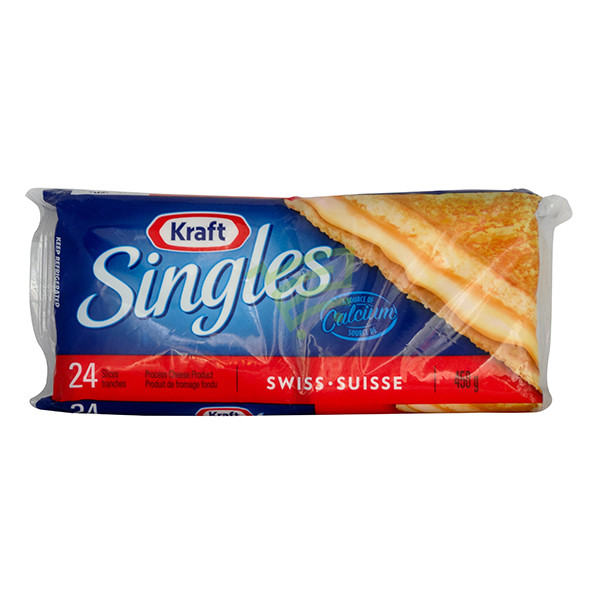 Indian grocery online - Kraft Singles Swiss Cheddar 450G - Cartly