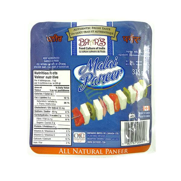 Indian grocery online - Brar's  Malai Paneer 375G - Cartly