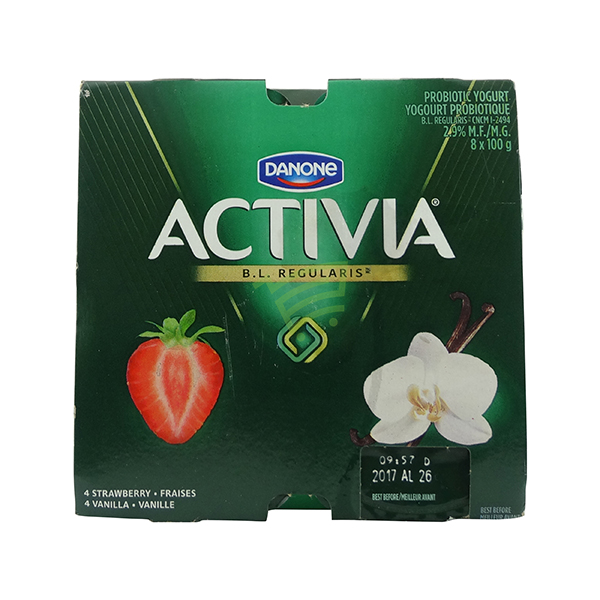 Indian grocery online - Danone Activia Strawberry 4x100g Vanilla 4x100g - Cartly
