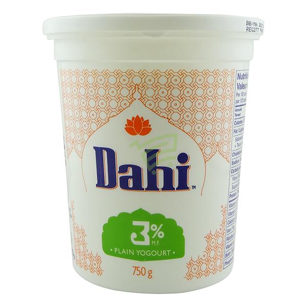 Indian grocery online - Dahi 3% Plain Yogurt 750g - Cartly