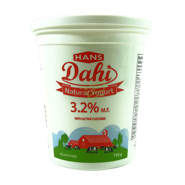 Indian grocery online - Hans Dahi 3.25% 750g - Cartly