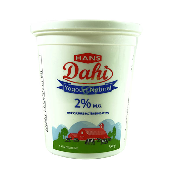 Indian grocery online - Hans Dahi 2% 750G - Cartly