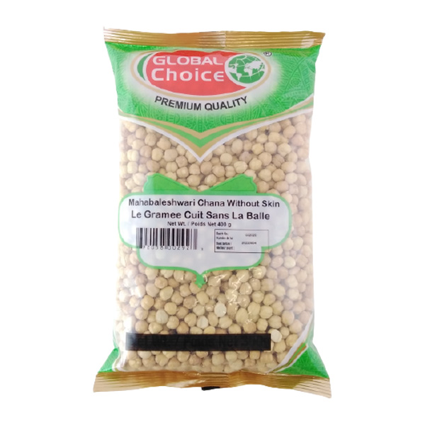 Indian grocery online - Global Choice Mahabaleshwari Chana With Out Skin 400gm - Cartly