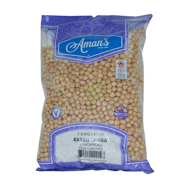 Indian grocery online - Aman's Kabuli Chana 4lb - Cartly