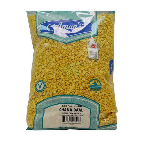Indian grocery online - Aman's Chana Dal 7lb  - Cartly