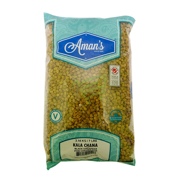 Indian grocery online - Aman's Kala Chana 7lb - Cartly