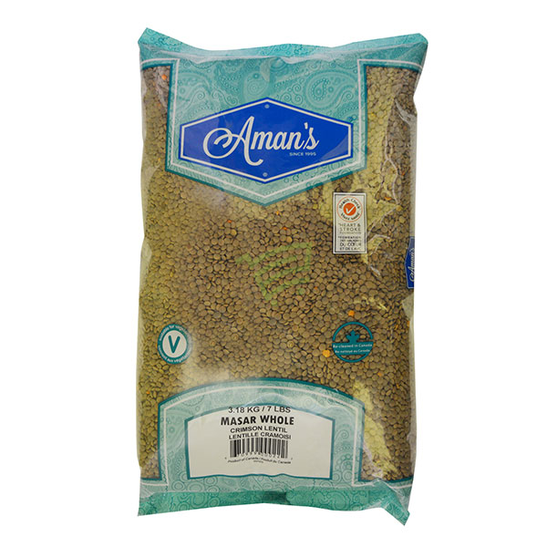 Indian grocery online - Aman's Masar Dal Whole 7lb - Cartly