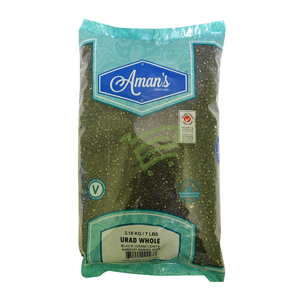 Indian grocery online - Aman's Urad Whole 7lb  - Cartly