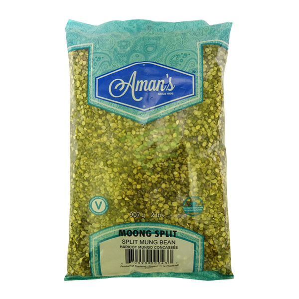 Indian grocery online - Aman's Moong Split 2lb - Cartly
